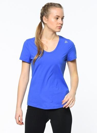 Reebok V Yaka Tişört Mavi